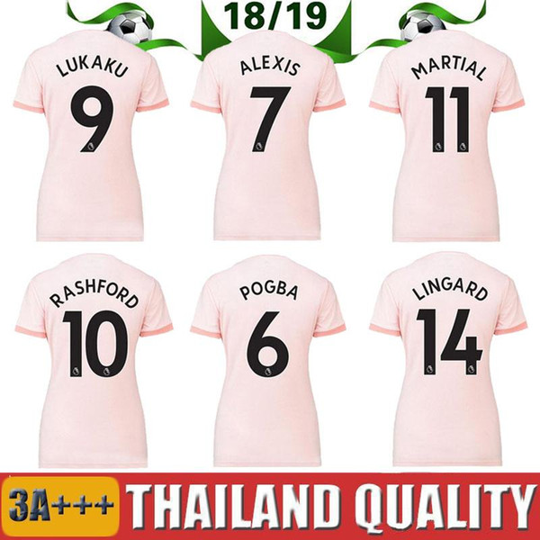 huge discount 6ff62 4bf87 2019 Women 2019 Manchester United Jerseys Lukaku Pogba Man Utd Soccer  Jersey Home Red Away Pink 18 19 Female Girl Maillot De Foot From  Thai_jerseys, ...