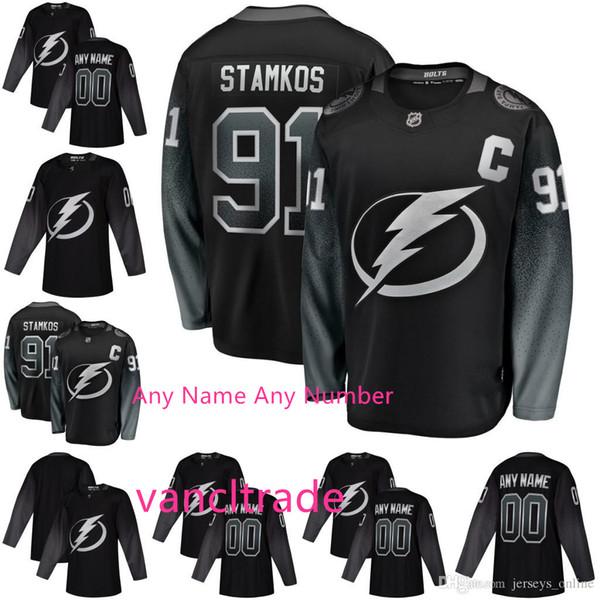 best selling Custom 2019 Mens Tampa Bay Lightning Alternate Jersey Nikita Kucherov Steven Stamkos Victor Hedman Brayden Point 88 Vasilevskiy Jerseys