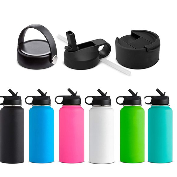Wholesale 18/32/40 oz Wide Mouth Sports Water Bottle Stainless Steel Vacuum Insulated Mugs Straw Lid/flex cap/Flip Lid In stock