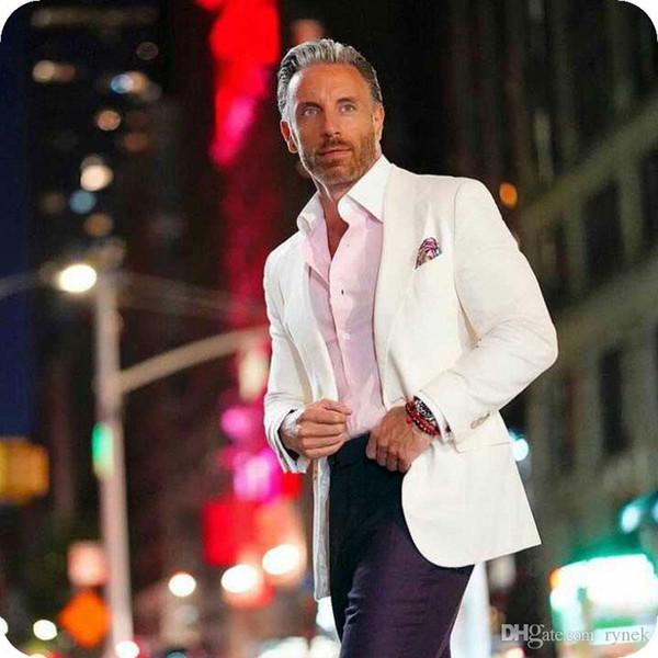 Latest Coat Burgundy Pants Designs White Men Suits for Wedding Groom Tuxedos Best Man Blazers 2Piece Groomsmen Suit Slim Fit Costume Homme