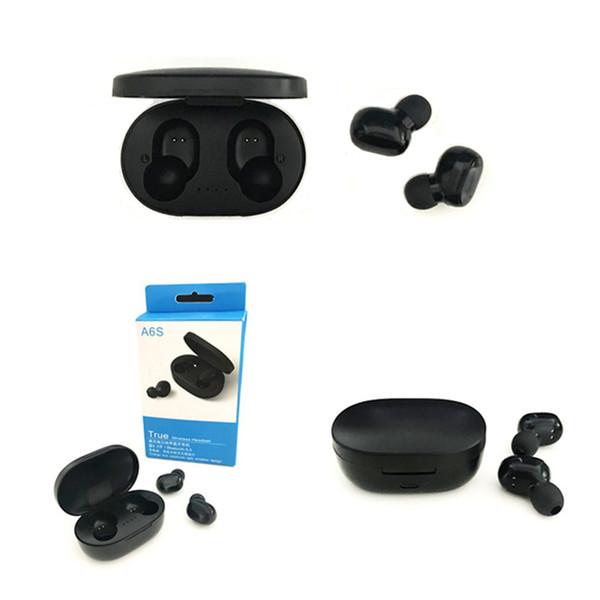 A6S TWS Bluetooth 5.0 Гарнитуры Для Redmi Airdots Беспроводные Наушники Наушники С Шумоподавлением Микрофон для Huawei Xiaomi для Всех Смартфонов
