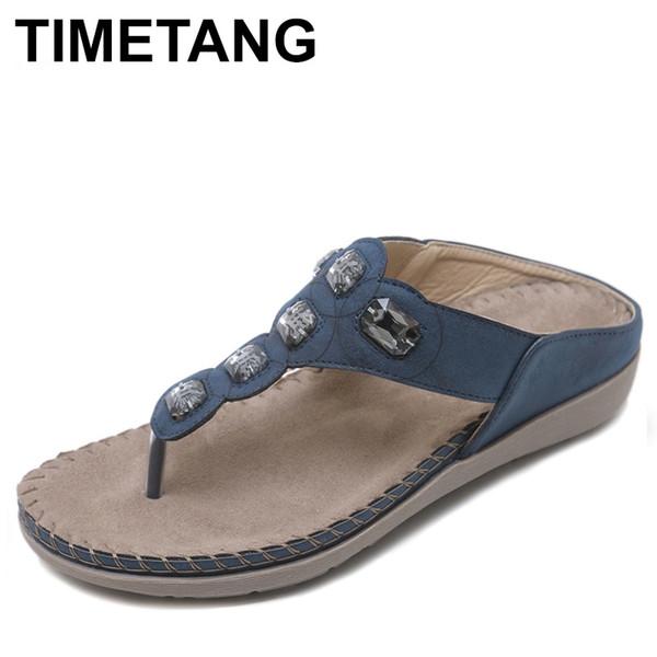 TIMETANG Women Shoes Comfort Beach Slippers Summer Fashion Flip Flops Ladies Shoes Flat Sandals Gladiator Sandalias WSH2430 #10222