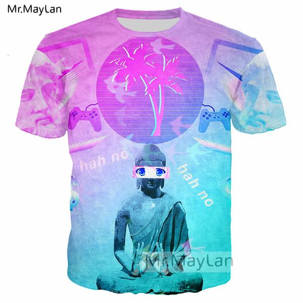 Vaporwave Style 3D Print Hip Hop Tshirt Men/women Punk Streetwear T-shirt Boys 2019 New Cool Oversized T shirt Man Top camiseta