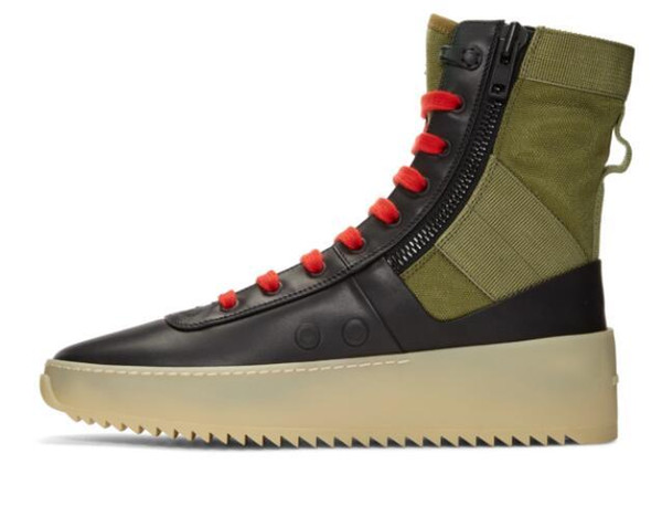 Fear Of God Mens Shoes Jungle High Top Leather Sneaker Insets Fog Boots Mens Canvas Shoes Brand Designer Bootsd09 Cheap Shoes Online Summer Shoes From
