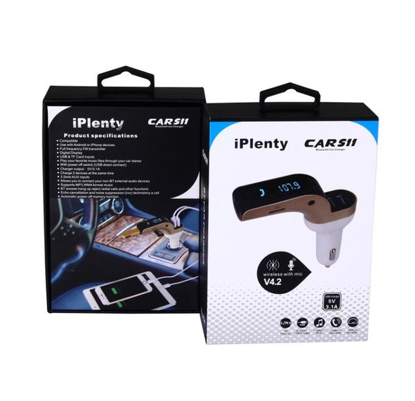 COCHE S11 FM Transmisor FM inalámbrico Bluetooth Kit de coche Reproductor de MP3 3 USB Cargador de coche C8 S7