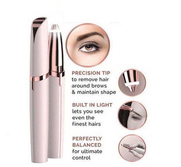 Epilatore elettrico del sopracciglio del rasoio di rimozione dei capelli del rossetto Rimozione manuale indolore degli strumenti del regolatore del fronte dell'occhio di rimozione dei capelli della cura del fronte con il pacchetto al minuto
