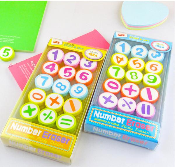 La migliore gomma per cancellare gomme Cancelleria per studenti in gomma Creative Lovely Digital Eraser Prize / Gift Box Colorful Eraser 020