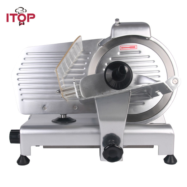 "10"" Blade Electric Frozen Meat Slicer Cutter Home Kitchen HEAVY DUTY Commercial Semi-Automatic Meat Cutting Machine Food Processors Kitchen"