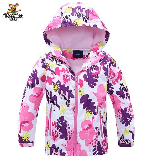 Meninas blusão jaqueta para a criança clothing 2019 marca flor polar fleece meninas outerwear casaco primavera outono 3-12 t crianças jaquetas