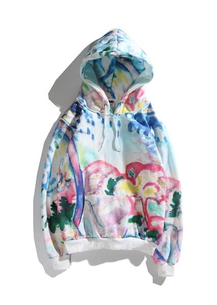 Mens Designer Hoodies Fashion Brand LOGO Sweater Tie Dyeing Letter High Street Hoodie Designer Hoodie Sweatshirt Loose Top Quality