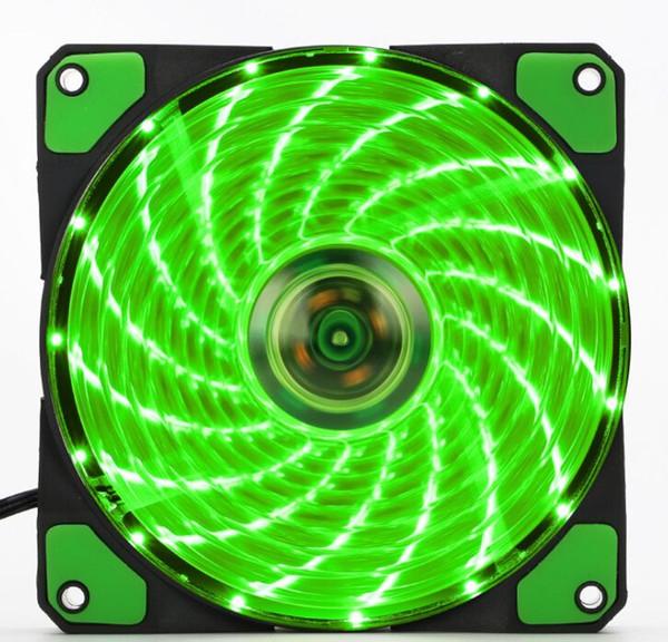 top popular LED Silent Fans Radiating Heatsink Cooler Cooling Fan For Computer PC Heat sink 120mm fan 3 Lights 12V Luminous 3Pin 4Pin Plug 2021