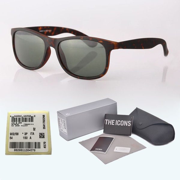 Brand Designer sunglasses for men women uv400 Mirror glass lenses plank frame Metal hinge fashion glasses with free Retail cases and label