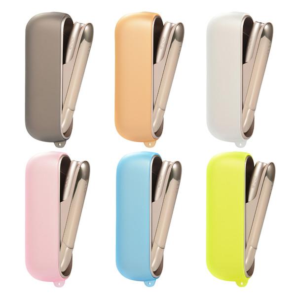 Taşınabilir çok renkli buzlu yumuşak Elektronik Sigara koruyucu Kapak Kılıf ile IQOS 3.0 E-Sigara için İpi delik