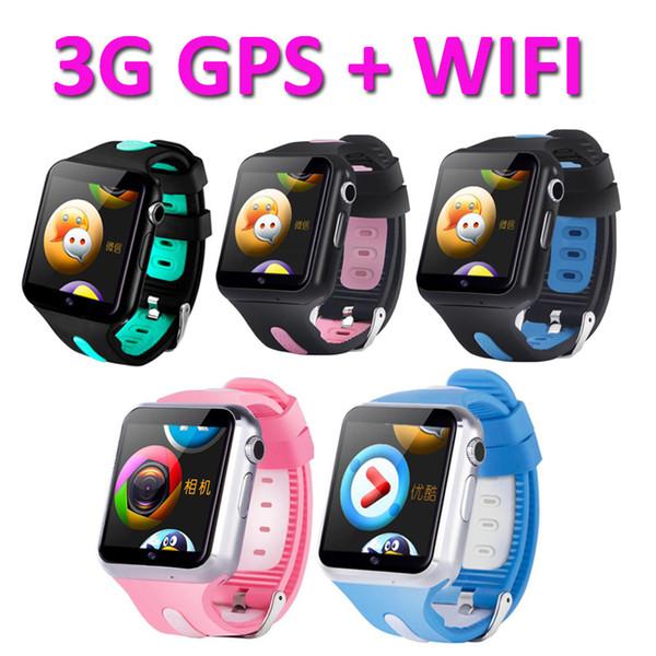 New Smart Watch kids men Waterproof 3G Wifi women clock Sport Fitness Tracker metal shell Camera Positioning Monitor watches V5W