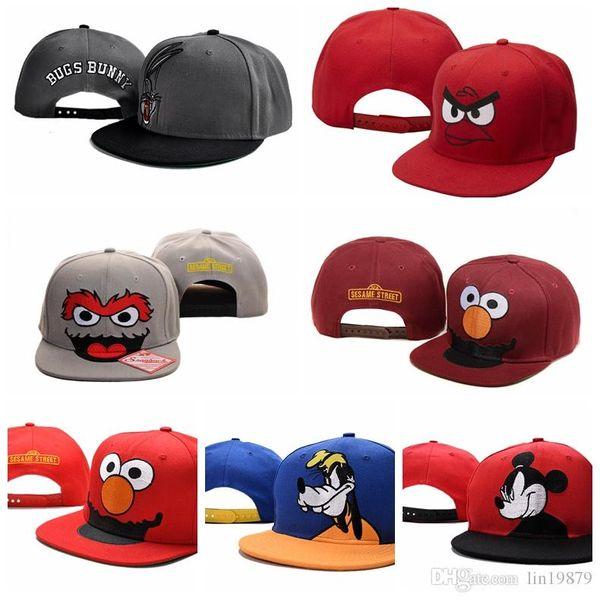Cartoon style SESAME STREET Baseball Caps High Quality hip hop for Adult men women toucas gorros Snapback Hats