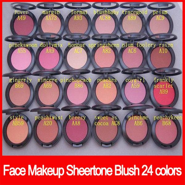 Marca popular Famous Face Makeup sheertone blush 24 colores blush palette 6g sin espejo sin cepillo Powder Shimmer Blush