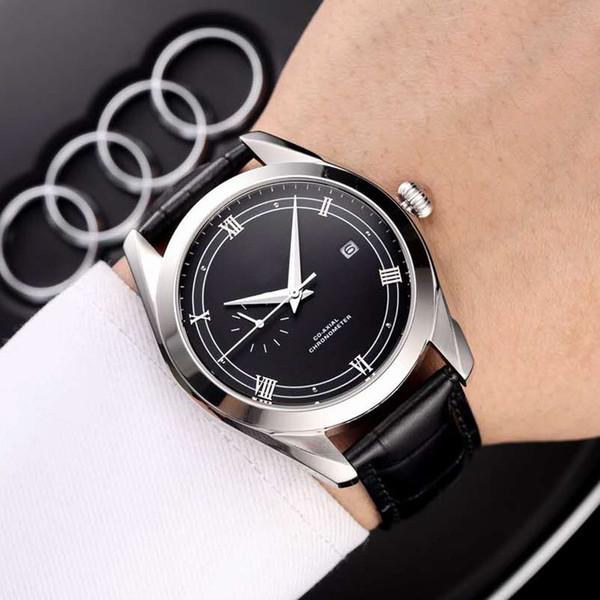 Новый летний бизнес мода мужские часы водонепроницаемый кожаный ремешок для часов из нержавеющей стали механический роскошный досуг почетный