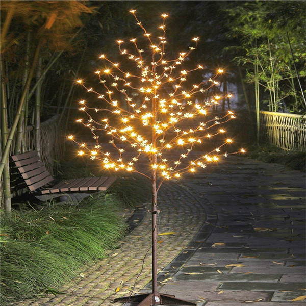 1.5m led cherry blossom light tree trunk landscape warm white wedding luminaria lamp outdoor lighting new year waterproof