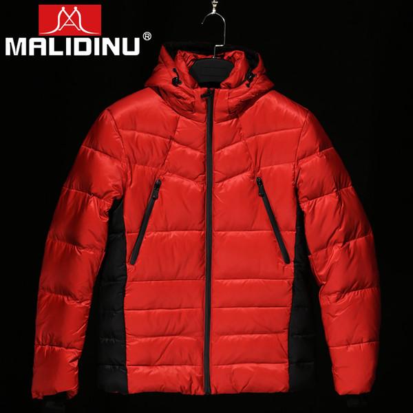 MALIDINU Men Duck Down Jacket Warm Down Coat 70%White Duck Men Coat Winter Feather Jacket Mens Parka Outwear