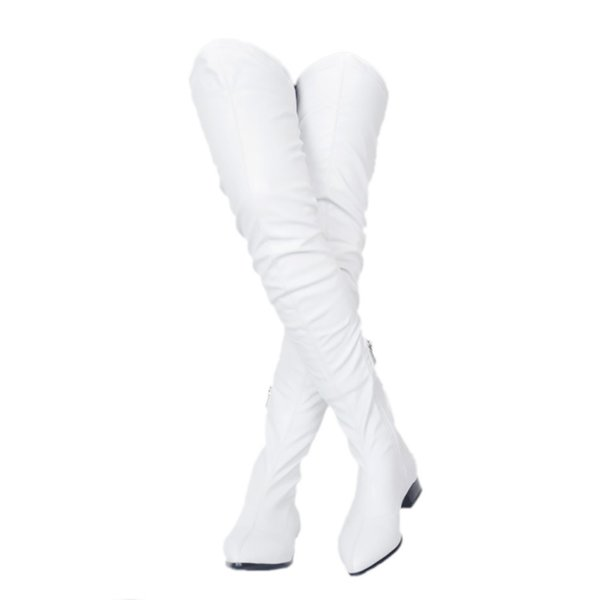 ZDONE Ladies 2019 New Classic Thigh-high Boots Big Size Winter Long Booties Party Prom Fashion Warm Dress Evening Boots Shoes N0794