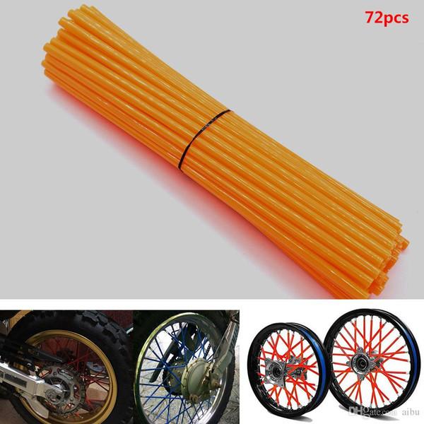 For 72 pcs Universal Motorcycle Dirt Bike Road Wheel Rim Spoke Shrouds Skins for YAMAHA KAWASAKI zx6r bmw KTM HONDA tmax 500 FZ1 FZ6