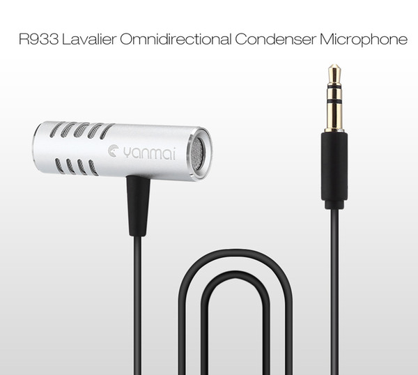 R933 Professional Lavalier Omnidirectional Condenser Microphone for PC Phone Camera