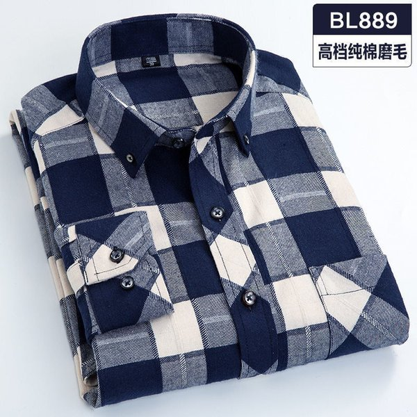 Плюс Размер 5xl 6xl 7xl 8xl 100% Хлопок Плед Повседневная Рубашка Мужчины С Длинными Рукавами Новая Коллекция Весна Бизнес Большой Большой Высокое Качество Мода C19041701