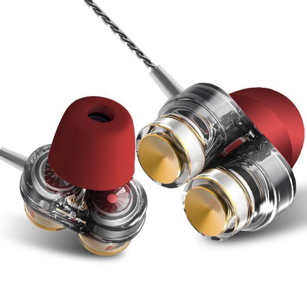 KD7 Auriculares Universales Tapones para los oídos Deportes Sonido mágico Subwoofer Doble acción Auriculares Auriculares En la oreja