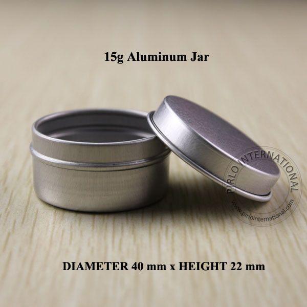 15g Aluminum Jar Facial Mask Cream Containers Split Charging Jars Cosmtic Packaging Cream Jar 50 pcs/lot Free Shipping