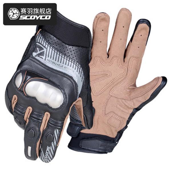 SCOYCO MC60 Мотоциклетные перчатки Весна / Лето Защитные перчатки из нержавеющей стали Светоотражающие перчаткиКожа дышащая перчатка