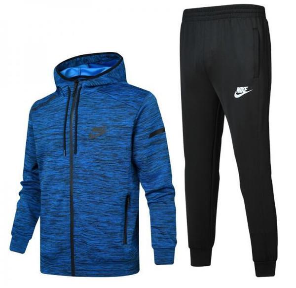 d66aec99 NIKE Новая весна осень мужские спортивные костюмы комплекты Jogger куртки с  брюками костюм хип-хоп