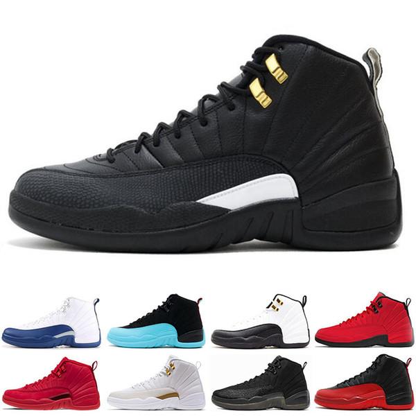 Großhandel Nike Air Jordan 12 12s Beliebte 12 12s Männer Basketball Schuhe Sneakers Schwarz Weiß PLAYOFF THE MASTER Gym Rot Gamma Blau 12s Herren