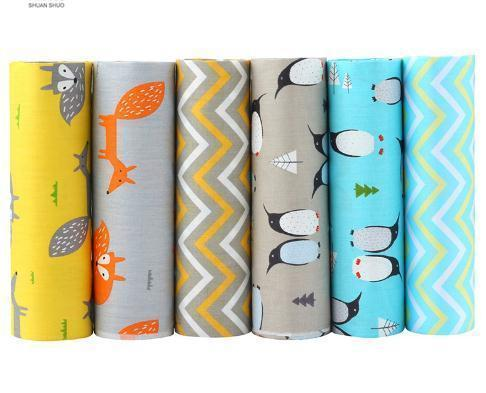 2019 Twill Cotton Fabric,Patchwork Cloth,DIY Sewing Quilting Fat Quarters Material For Baby&Chil 6pcs/lot
