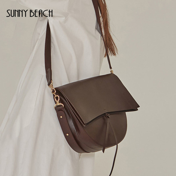 SUNNY BEACH Women Bag Messenger Vintage Shoulder Bag Female Handbag Female Crossbody Girl Bolsas pu Leather Bag Tote T190914