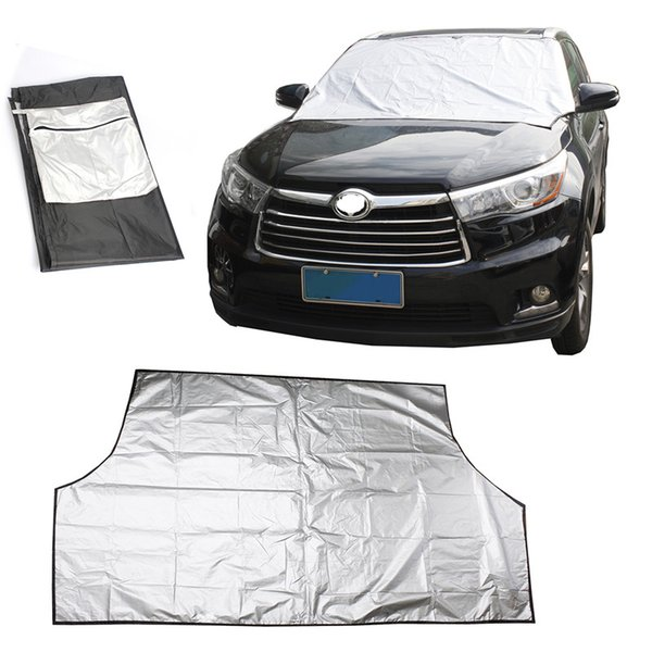 Airkoul Car Windshield Snow Cover Sun Shade Dust Ice Protector Seasons Windbreak umbrella Covers Windscreen Car-Styling