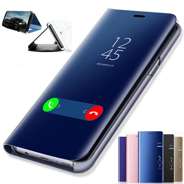Smart spiegel flip case für xiaomi redmi note 7 5 6 k20 pro 4x5a6a5 plus s2 ledertasche für mi 9 t 9 f1 8 se a1 a2 mix 2 case