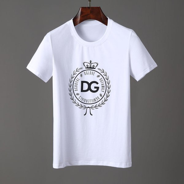 2019-Sommer-T-Shirt Fashion Luxurious T-Shirts Klassiker Printed Kurzarm Cotton Freizeit Hip Hop Großhandel Spitzen T # 6603