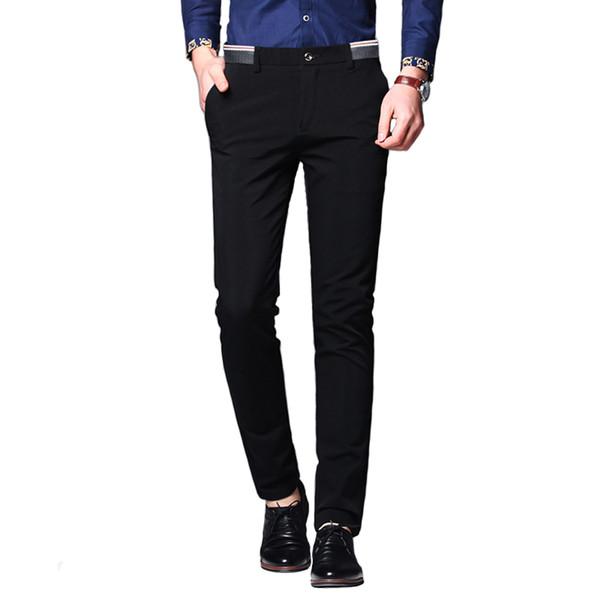 Pantalones de hombre Pantalones de hombre de negocios para hombre Pantalones clásicos de peso medio Rectos de cuerpo entero Pantalones de respiración de moda 28-38