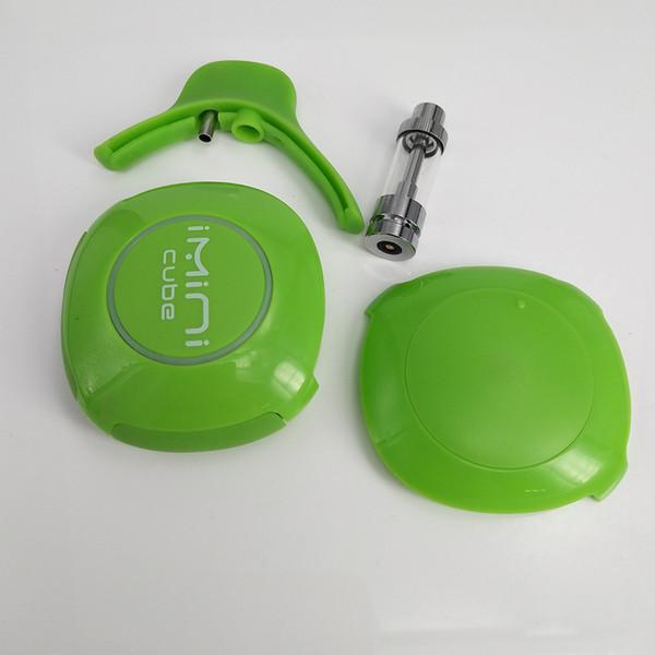 E Cigarette Starter Kit Vape Battery with 1.0ml Oil Glass Tank Box Mod 3.0-3.7V Voltage Adjustable Battery Portable Imini Cube
