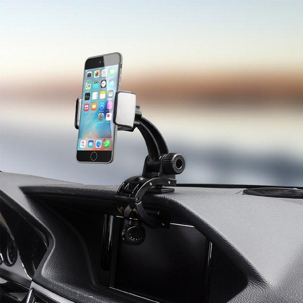 Hot Car Mobile Phone Holder Dashboard Mount Car Kit Double Clips GPS Stand Holder J99