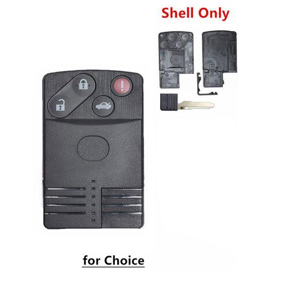 Smart Card Remote Key Shell 3+1 Buttons Case Fob for MAZDA 5 6 CX-7 CX-9 RX8 Miata