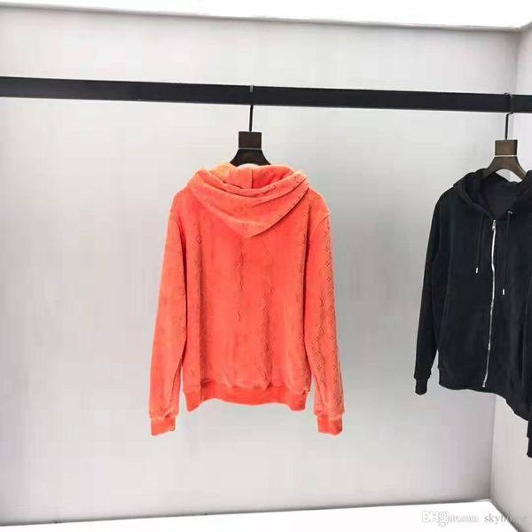 2019 Itália nova alta qualidade mens Hoodies de veludo de alta qualidade TAMANHO de luxo ~ tops homens designer confortavelmente e hoodies macios zdl0904.