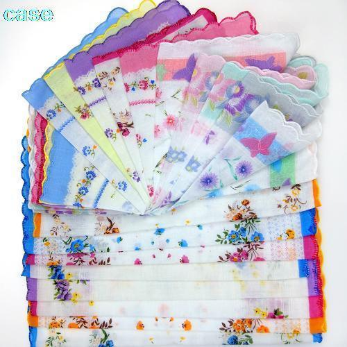 best selling 10 Pcs Home Textile Comfortable Handkerchief Antique Floral Embroidered Scarf Hankie Mint C19041301