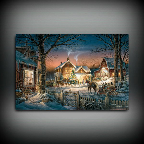 HD Printed Terry Redlin Oil Painting Home Decoration Wall Art on Canvas Trimming the Tree Unframed