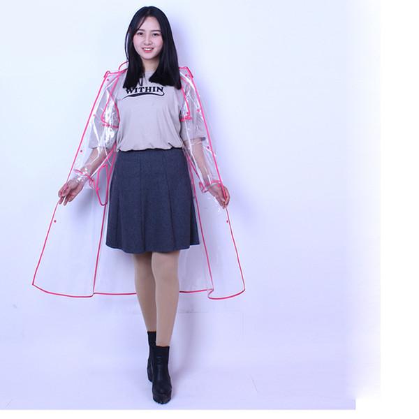 Модный Прозрачный Плащ Женская Куртка от дождя для Женщин Rainwear Tour Single-person