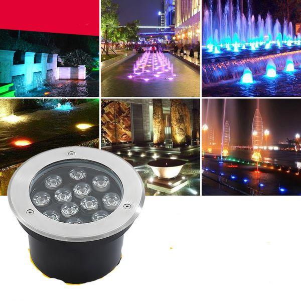 Fanlive 10pcs 3W/5W/6W/7W/9W/12W/15W/18W LED Outdoor Ground Garden Path Floor Underground Buried Yard Lamp Spot Landscape Light