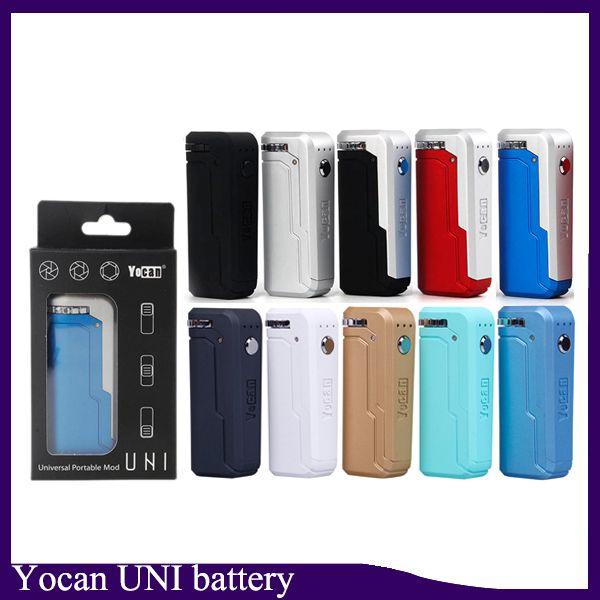 Батарея 650mah Yocan Uni регулируемое напряжение тока и подогревает батарею для патрона 0266285 масла диаметра 6-12mm Толщиного