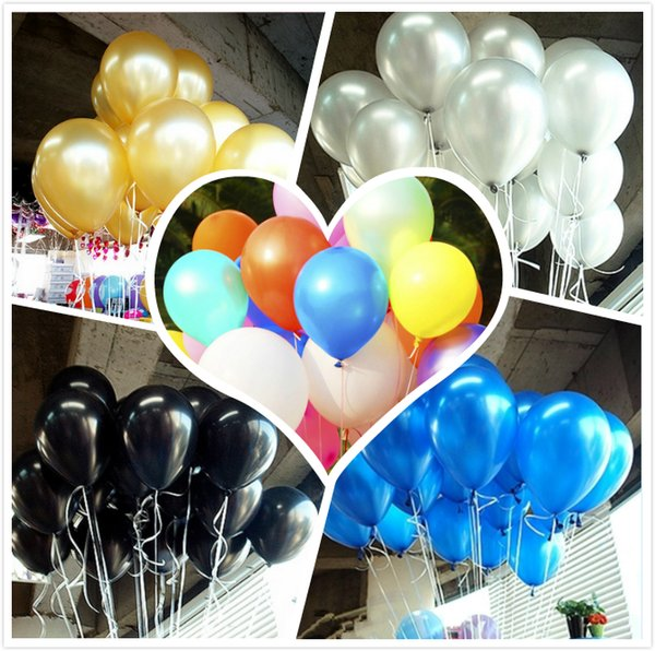 best selling Hot Sale 12inch 2.8g 100pcs lot Latex Balloons HeliumThick Pearl Halloween Balloon Wedding Party Birthday Decorations Toy gifts