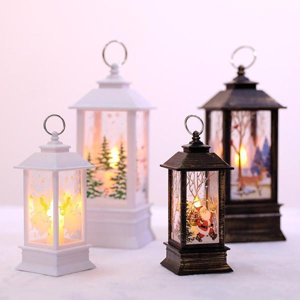 Decorações de Natal criativas para árvore de Natal Home LED Vela Decorações da árvore de Natal LED Light Xmas Ornamentos Pingentes FA3213
