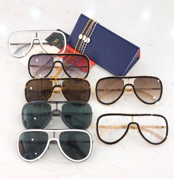 Popular sunglasses luxury 61 brand designer summer style full frame high quality anti-UV mixed color comes with the box